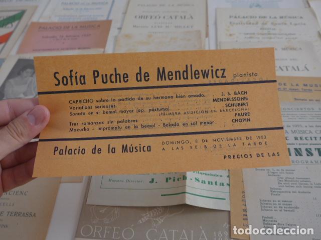 Catálogos de Música: Gran lote de 39 catalogo y folleto de palacio de la musica catalana, originales. Variedad. - Foto 3 - 132904486
