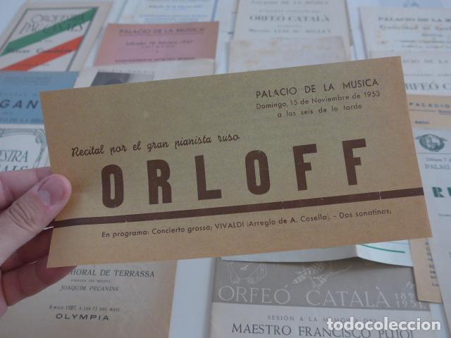 Catálogos de Música: Gran lote de 39 catalogo y folleto de palacio de la musica catalana, originales. Variedad. - Foto 4 - 132904486
