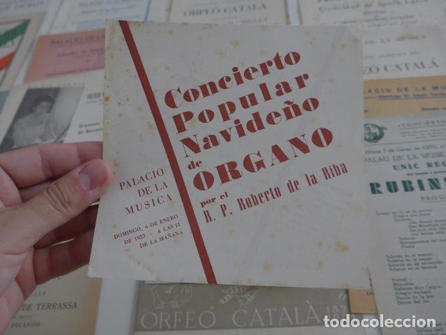 Catálogos de Música: Gran lote de 39 catalogo y folleto de palacio de la musica catalana, originales. Variedad. - Foto 5 - 132904486