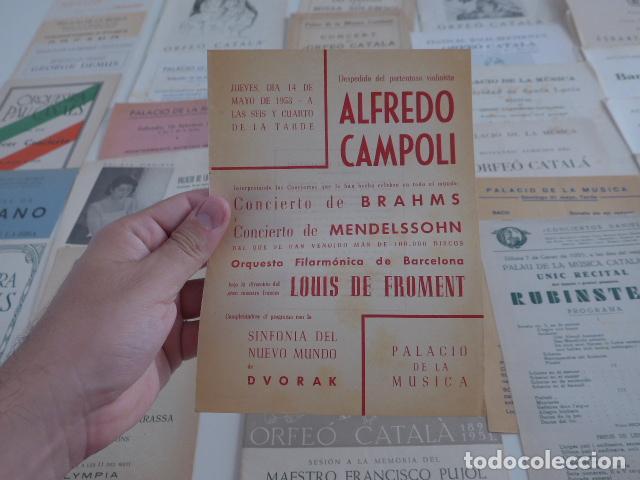 Catálogos de Música: Gran lote de 39 catalogo y folleto de palacio de la musica catalana, originales. Variedad. - Foto 6 - 132904486