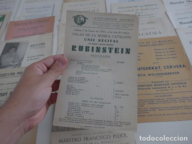 Catálogos de Música: Gran lote de 39 catalogo y folleto de palacio de la musica catalana, originales. Variedad. - Foto 7 - 132904486