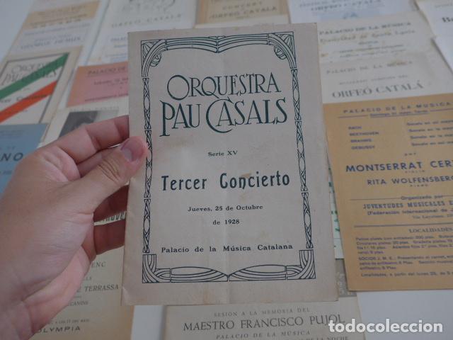 Catálogos de Música: Gran lote de 39 catalogo y folleto de palacio de la musica catalana, originales. Variedad. - Foto 8 - 132904486