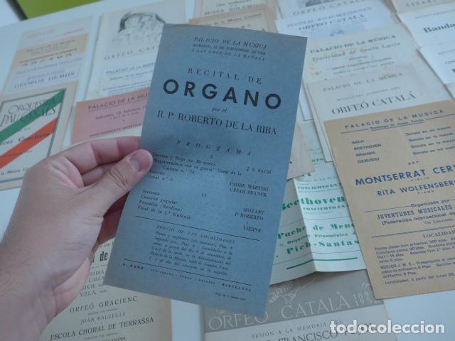 Catálogos de Música: Gran lote de 39 catalogo y folleto de palacio de la musica catalana, originales. Variedad. - Foto 9 - 132904486