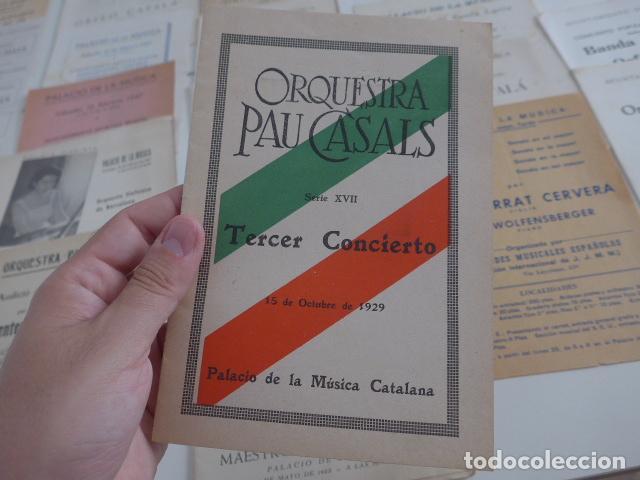 Catálogos de Música: Gran lote de 39 catalogo y folleto de palacio de la musica catalana, originales. Variedad. - Foto 10 - 132904486