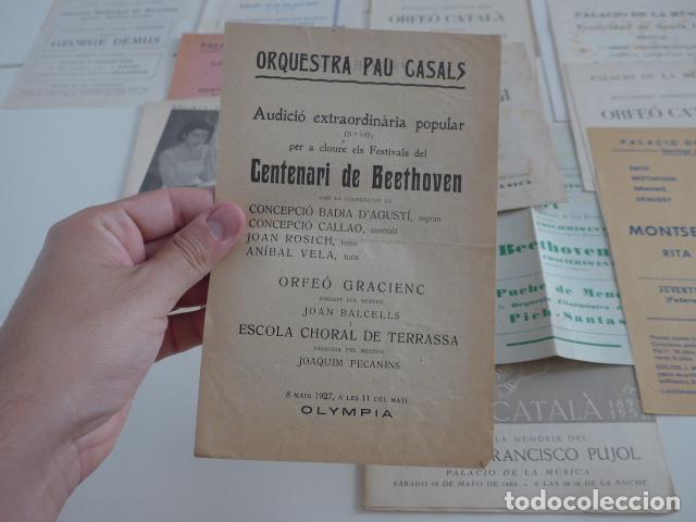 Catálogos de Música: Gran lote de 39 catalogo y folleto de palacio de la musica catalana, originales. Variedad. - Foto 11 - 132904486