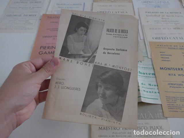 Catálogos de Música: Gran lote de 39 catalogo y folleto de palacio de la musica catalana, originales. Variedad. - Foto 12 - 132904486