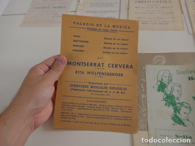 Catálogos de Música: Gran lote de 39 catalogo y folleto de palacio de la musica catalana, originales. Variedad. - Foto 15 - 132904486