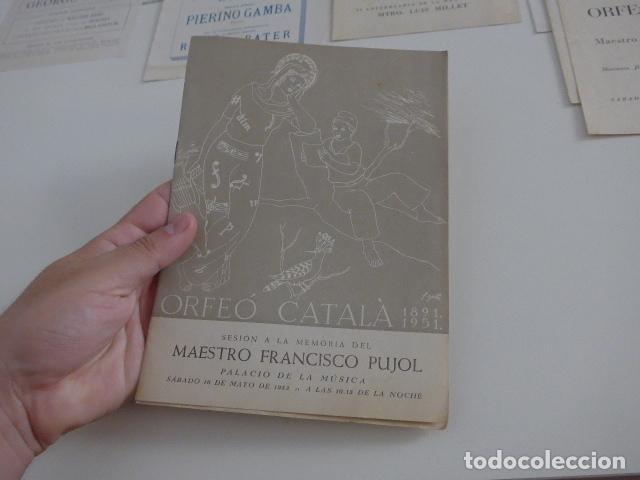 Catálogos de Música: Gran lote de 39 catalogo y folleto de palacio de la musica catalana, originales. Variedad. - Foto 17 - 132904486