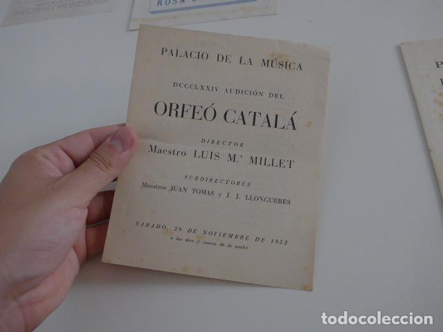 Catálogos de Música: Gran lote de 39 catalogo y folleto de palacio de la musica catalana, originales. Variedad. - Foto 18 - 132904486