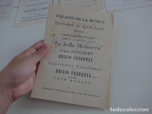 Catálogos de Música: Gran lote de 39 catalogo y folleto de palacio de la musica catalana, originales. Variedad. - Foto 19 - 132904486