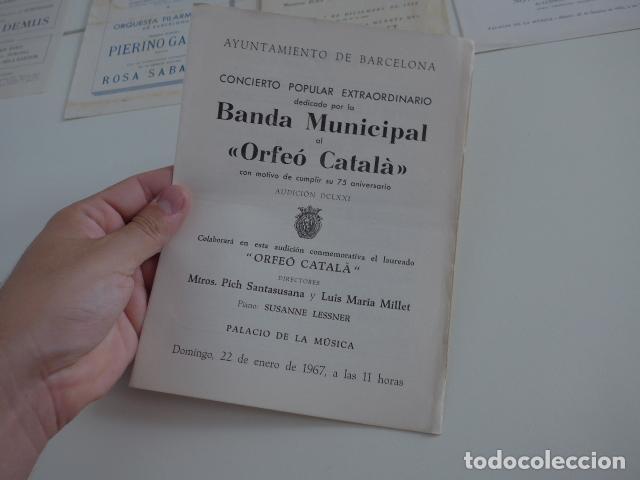 Catálogos de Música: Gran lote de 39 catalogo y folleto de palacio de la musica catalana, originales. Variedad. - Foto 20 - 132904486