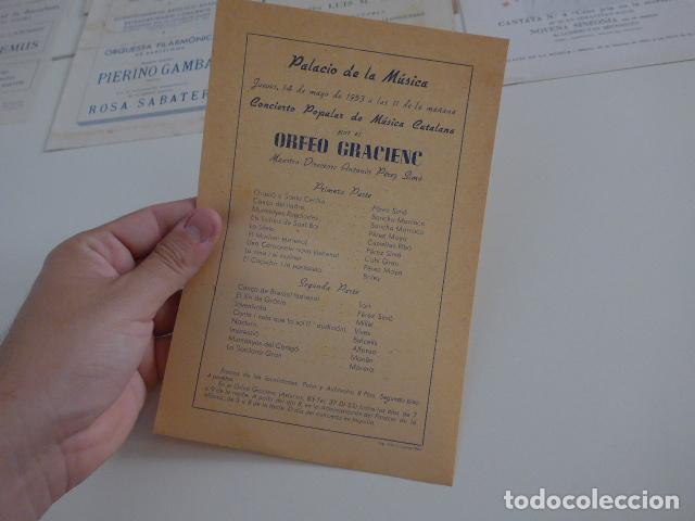 Catálogos de Música: Gran lote de 39 catalogo y folleto de palacio de la musica catalana, originales. Variedad. - Foto 21 - 132904486