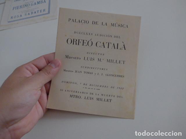 Catálogos de Música: Gran lote de 39 catalogo y folleto de palacio de la musica catalana, originales. Variedad. - Foto 26 - 132904486