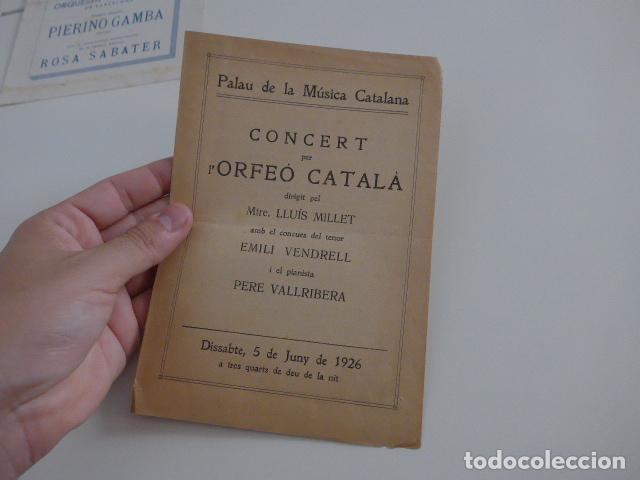 Catálogos de Música: Gran lote de 39 catalogo y folleto de palacio de la musica catalana, originales. Variedad. - Foto 27 - 132904486