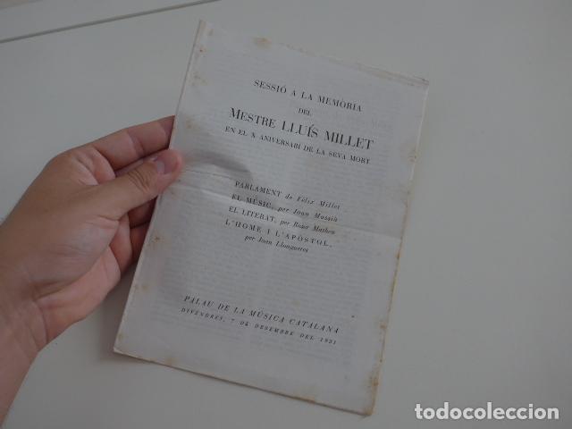 Catálogos de Música: Gran lote de 39 catalogo y folleto de palacio de la musica catalana, originales. Variedad. - Foto 32 - 132904486