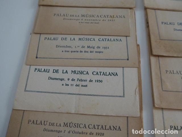 Catálogos de Música: Gran lote de 21 catalogo associacio obrera de concerts de palacio de la musica catalana, originales. - Foto 3 - 132907558