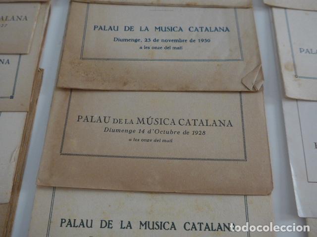 Catálogos de Música: Gran lote de 21 catalogo associacio obrera de concerts de palacio de la musica catalana, originales. - Foto 6 - 132907558