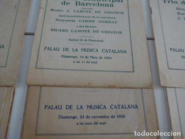 Catálogos de Música: Gran lote de 21 catalogo associacio obrera de concerts de palacio de la musica catalana, originales. - Foto 7 - 132907558