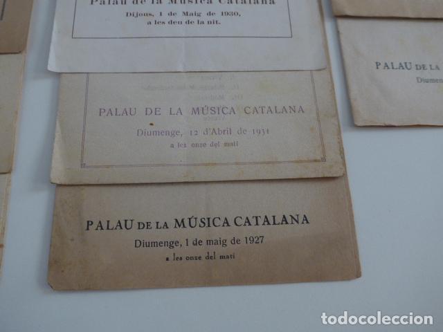 Catálogos de Música: Gran lote de 21 catalogo associacio obrera de concerts de palacio de la musica catalana, originales. - Foto 8 - 132907558