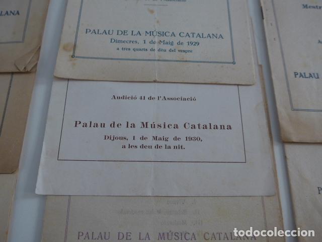 Catálogos de Música: Gran lote de 21 catalogo associacio obrera de concerts de palacio de la musica catalana, originales. - Foto 9 - 132907558
