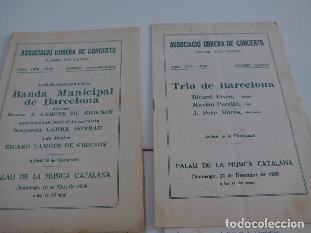 Catálogos de Música: Gran lote de 21 catalogo associacio obrera de concerts de palacio de la musica catalana, originales. - Foto 12 - 132907558