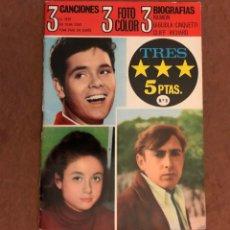 Catálogos de Música: TRES ESTRELLAS, 3 CANCIONES, 3 FOTO COLOR, 3 BIOGRAFÍAS. RAIMON, CLIFF RICHARD, GIGLIOLA. 1967.. Lote 132958094