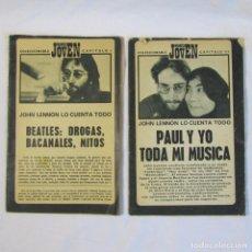 Catálogos de Música: MUNDO JOVEN: 2 CAPÍTULOS COLECCIONABLES AÑOS 70 THE BEATLES CAPITULO I + III. Lote 133046442