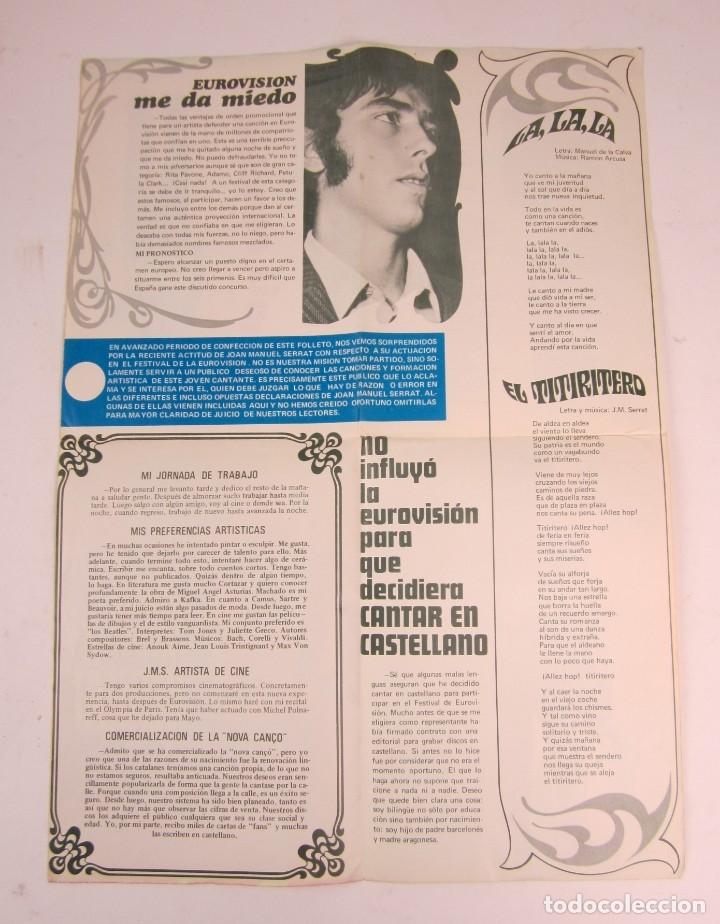 Catálogos de Música: Foto posters Joan Manuel Serrat, 1960S. VER FOTOS - Foto 4 - 133303462