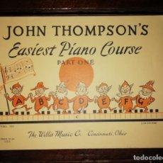 Catálogos de Música: JOHN THOMPSON´S EASIEST PIANO COURSE PART ONE - LIBRETO - (INGLÉS) TAMAÑO DIN A4 APROX. Lote 134041426