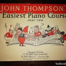 Catálogos de Música: JOHN THOMPSON´S EASIEST PIANO COURSE PART TWO - LIBRETO - (INGLÉS) TAMAÑO DIN A4 APROX. Lote 134041610