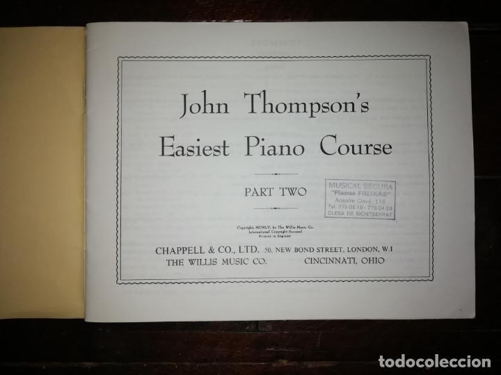 Catálogos de Música: John Thompson´s Easiest Piano Course part two - libreto - (Inglés) tamaño DIN A4 aprox - Foto 2 - 134041610