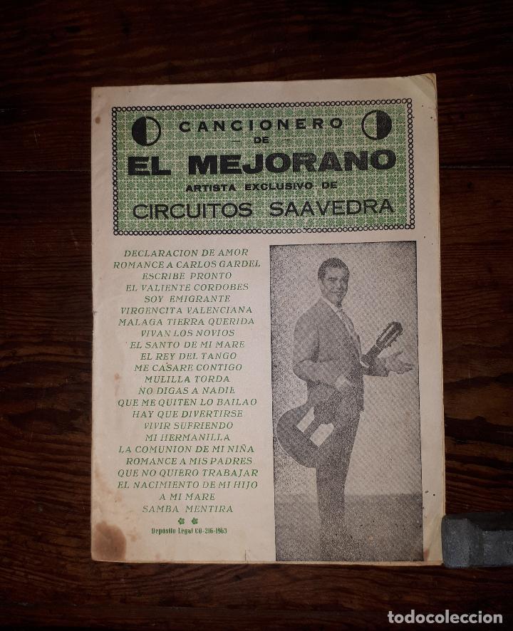 CANCIONERO DE EL MEJORANDO CABRA CÓRDOBA 1963 (Música - Catálogos de Música, Libros y Cancioneros)
