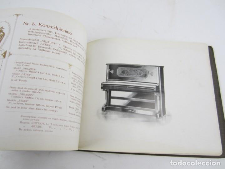 Catálogos de Música: Catálogo alemán de pianos, 1913, Lauberger & Gloss, Wien, London. 26x20cm - Foto 3 - 135001938