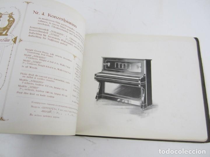 Catálogos de Música: Catálogo alemán de pianos, 1913, Lauberger & Gloss, Wien, London. 26x20cm - Foto 4 - 135001938
