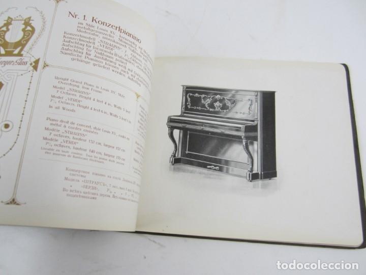 Catálogos de Música: Catálogo alemán de pianos, 1913, Lauberger & Gloss, Wien, London. 26x20cm - Foto 5 - 135001938