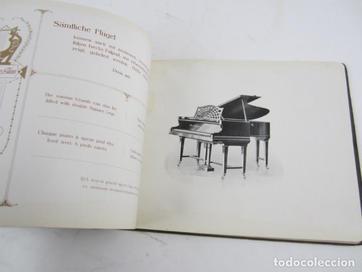 Catálogos de Música: Catálogo alemán de pianos, 1913, Lauberger & Gloss, Wien, London. 26x20cm - Foto 6 - 135001938