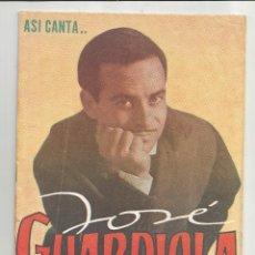 Catálogos de Música: CANCIONERO JOSÉ GUARDIOLA - EDITORIAL ALAS. Lote 135329118