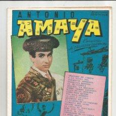Catálogos de Música: CANCIONERO ANTONIO AMAYA - EDICIONES BISTAGNE. Lote 135329506