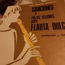 Catálogos de Música: CLN11//CANCIONES Y PIEZAS CÉLEBRES PARA FLAUTA DULCE. Lote 135618961