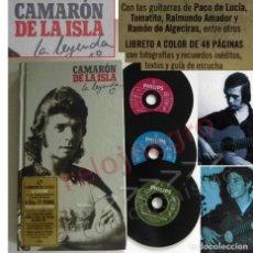 Catálogos de Música: CAMARÓN DE LA ISLA LA LEYENDA LIBRETO 3 CDS FLAMENCO PACO LUCÍA GUITARRA FOTO CANTAOR ANDALUZ MÚSICA. Lote 136171958