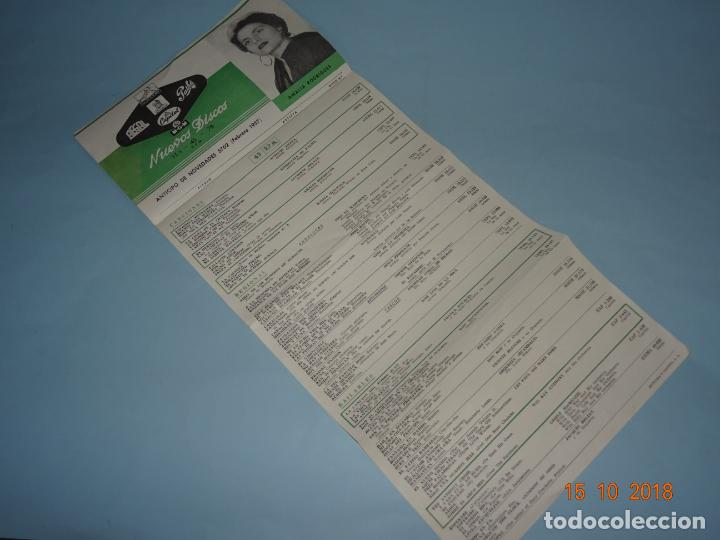 Catálogos de Música: Antiguo Catálogo Desplegable Anticipo de Novedades Febrero de 1957 CAPITOL PATHE ODEON AEGAL MGM - Foto 4 - 136558850
