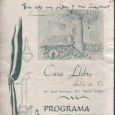 Catálogos de Música: CATÁLOGO CASA LLIBRE SALÓN DE TÉ - CONCIERTOS CUARESMA 1947 - 48 BARCELONA AVDA.JOSÉ ANTONIO,605. Lote 136620278