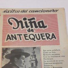 Cataloghi di Musica: CANCIONERO NIÑA DE ANTEQUERA. Lote 137451602