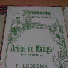 Catálogos de Música: BRISAS DE MÁLAGA -ZAMBRA -VER FOTOS. Lote 138838166