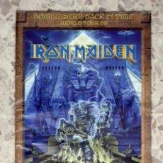Catálogos de Música: IRON MAIDEN POSTER TOUR BOOK - SOMEWHERE BACK IN TIME . Lote 138909446