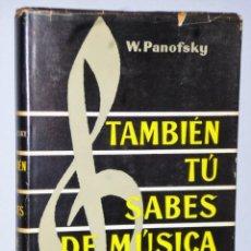 Catálogos de Música: TAMBIÉN TÚ SABES DE MÚSICA. Lote 139594638