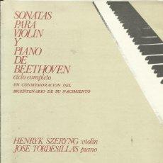 Catálogos de Música: PROGRAMA SONATAS PARA VIOLIN Y PIANO DE BEETHOVEN. TEATRO REAL. MADRID. 1970. SZERYNG Y TORDESILLAS.. Lote 139736622