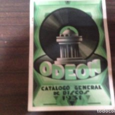 Catálogos de Música: ANTIGUO CATALOGO GENERAL DE DISCOS ODEON AÑO 1931. Lote 142137322