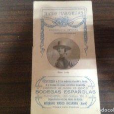 Catálogos de Música: ANTIGUO PROGRAMA OFICIAL TEATRO MARAVILLAS TEMPORADA 1923 1924. Lote 142138046