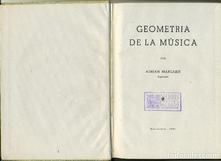 Catálogos de Música: GEOMETRIA de la MÚSICA - Margarit, Adrián - Foto 2 - 142342014
